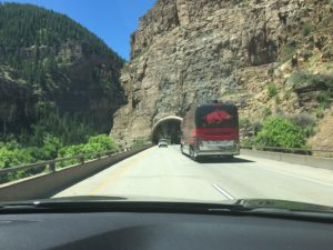 Driving to Glenwood Springs CO