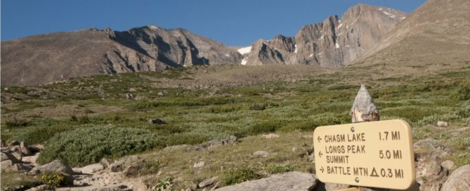 Chasm Lake Trail Sign