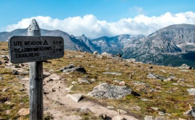 Ute Meadows Trail Head Sign