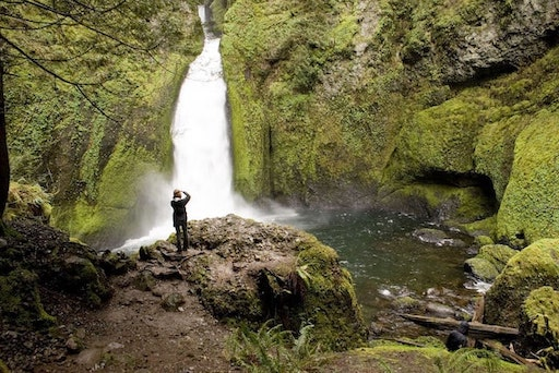 This is a photo of the wonderful Wahclella falls.